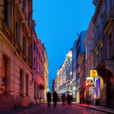 Beautiful streets of Riga